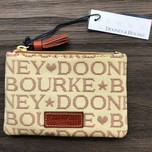 NWT Dooney & Bourke leather tassel zipper pouch